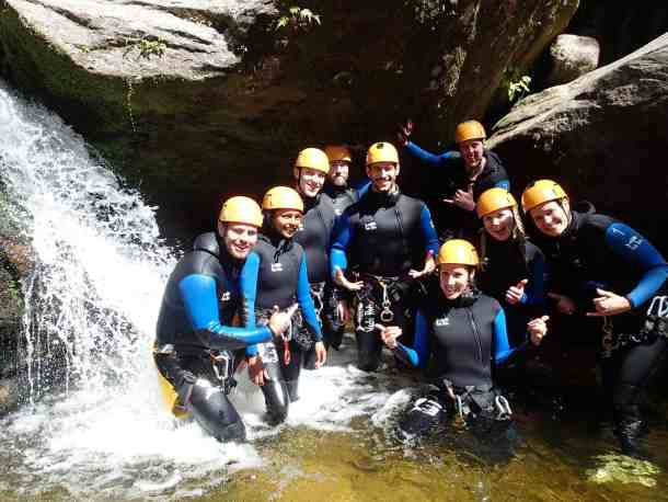 Group bonding with Abel Tasman Canyons