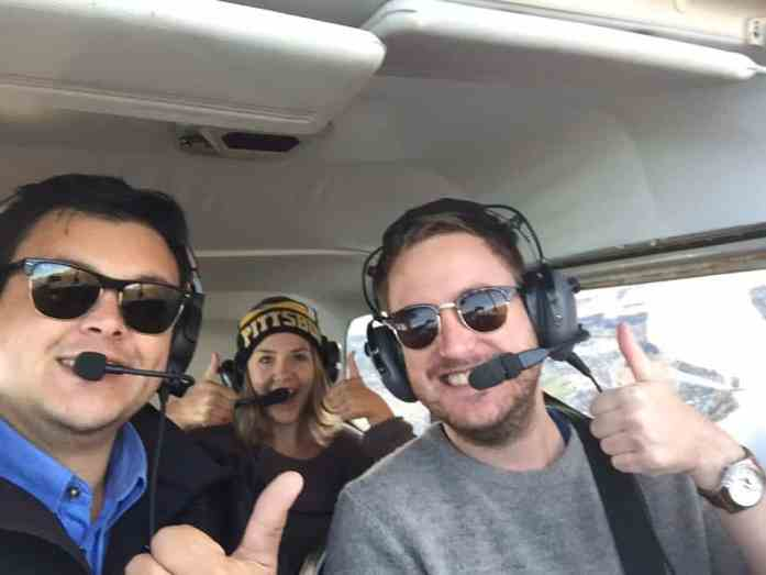 Piloting a plane over Lake Wanaka with Learn to Fly