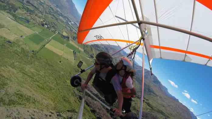 Hang gliding around Coronet Peak