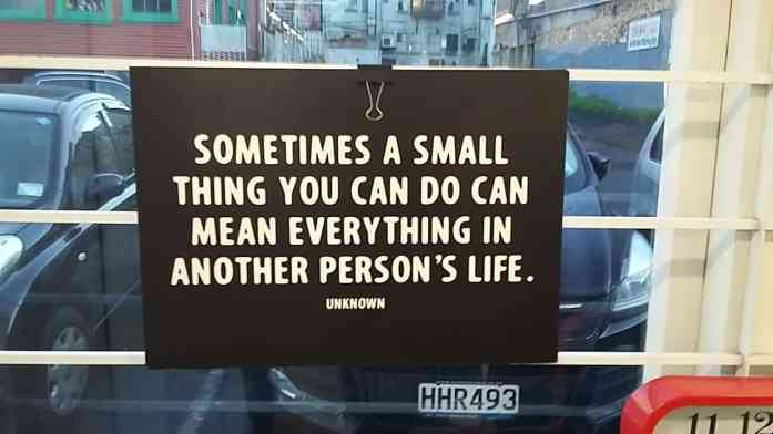 Sometimes a small thing you do can mean everything in a person's life - Stray NZ