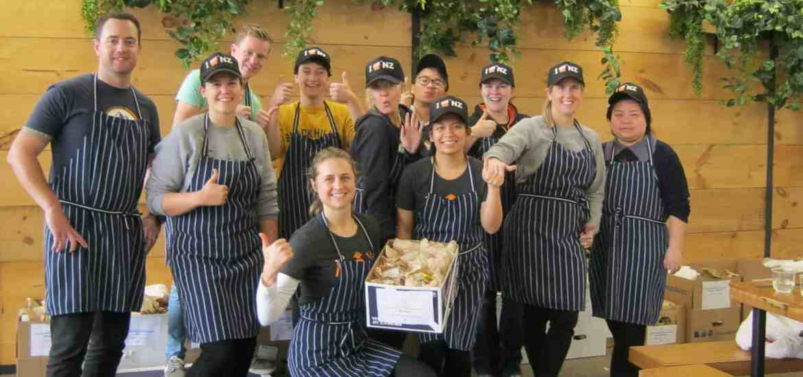 Stray staff volunteering at Eat My Lunch