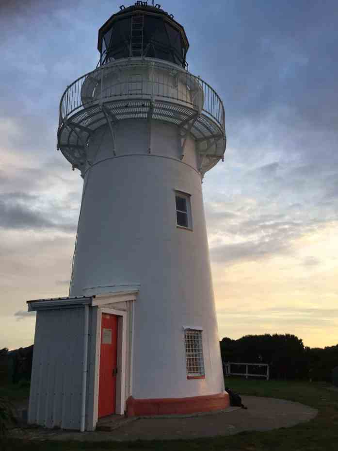 First sunrise at the East Cape Lighthouse