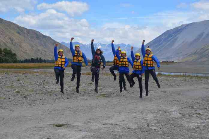 Rangitata Rafts group photo - Stray New Zealand
