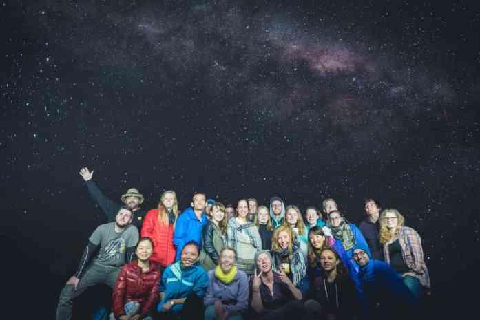 Blue Duck Station under the stars