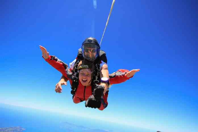 Skydive Bay of Islands - don't forget to smile - Stray NZ