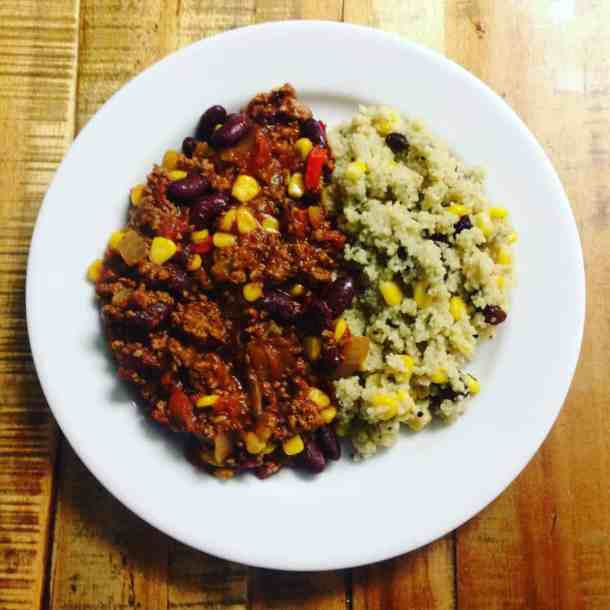 Chilli con carne - recommended meal to cook in hostel