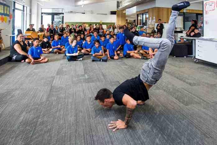 Stray NZ - Lake Aniwhenua - meeting the kids at Murupara Area School