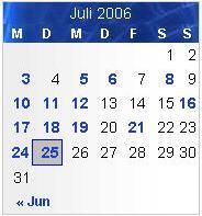 Korrigierte Version des Kalender mit besserem Kontrast und Rahmen um den Tag.