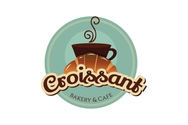 Bakery logo - Croissant Bakery & Cafe