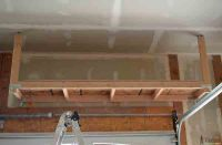 DIY: How to Build Suspended Garage Storage Shelves ...