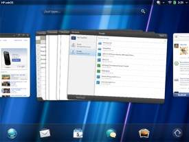 HP TouchPad Home-screen