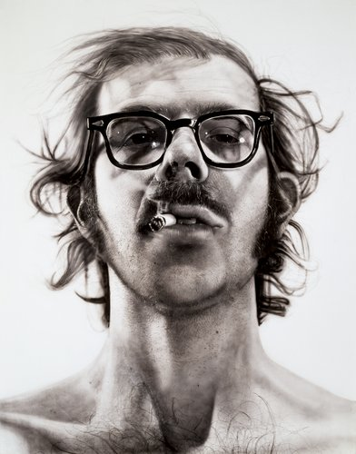 Stuart Bush Studio Notes, contemporary artist blog, Chuck Close, chuck close process, Process painting