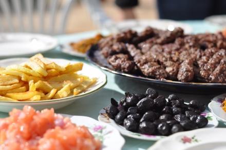 Moroccan farm lunch