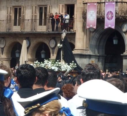 Virgin float in Salamanca