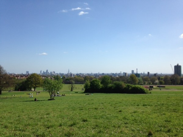 The London skyline from yet another hilltop