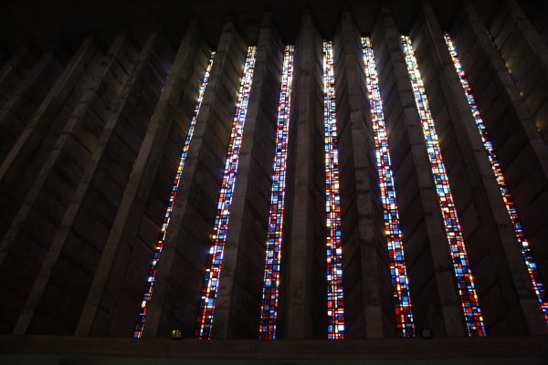Endless beauty within the stained glass windows of Our Lady of Lourdes Church.