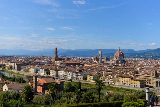 The Best View of Florence' If you are looking to find the best view of Florence, take a hike up Piazzale Michelangelo!