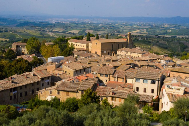 San Gimignano Lookout' If you are planning a trip to San Gimignano make sure to make your way to one of the town's most popular lookout site, Rocca Castle.
