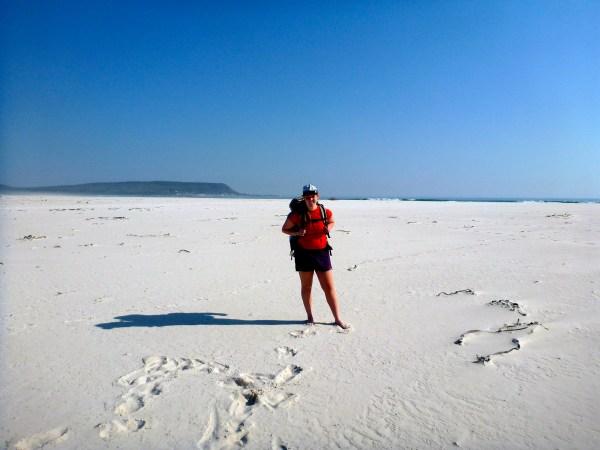 Hiking the huge Noordhoek Beach