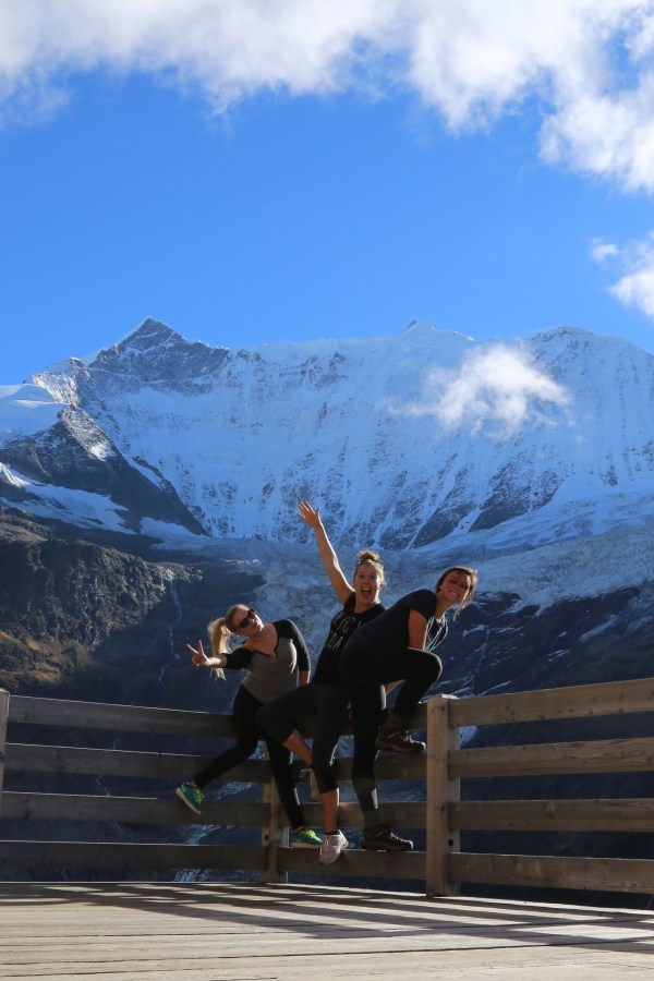 The three of us finally reached the Grindelwald glacier! (Or what's left of it)