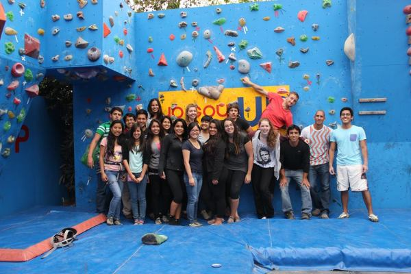 Rock climbing…my favorite class at the Universidad del Pacífico!