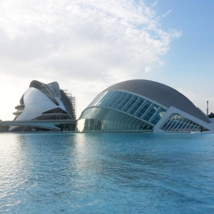 Another view of the Ciudad de Artes y Ciencias.