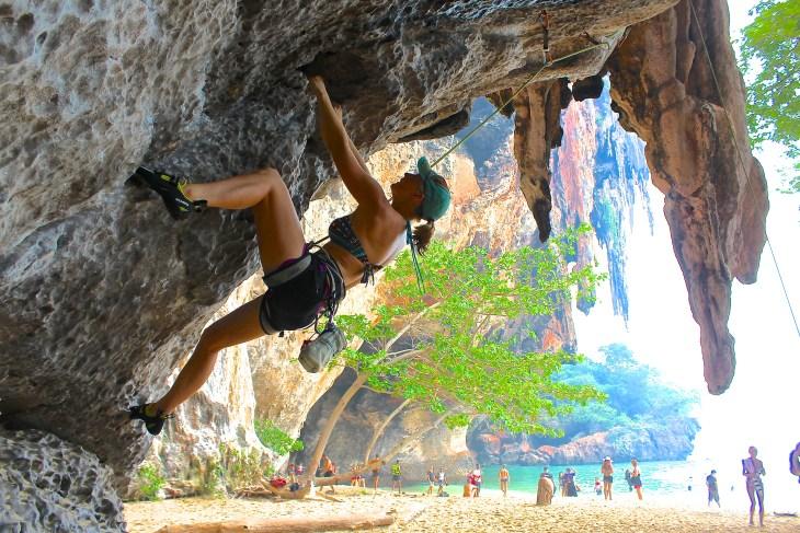 Phranang Cave Beach Climb