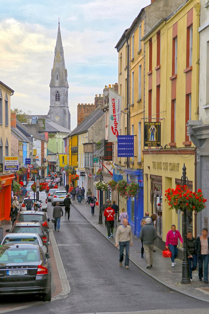 One of my favorite small towns is the vibrant community of Ennis, Ireland on the west coast.