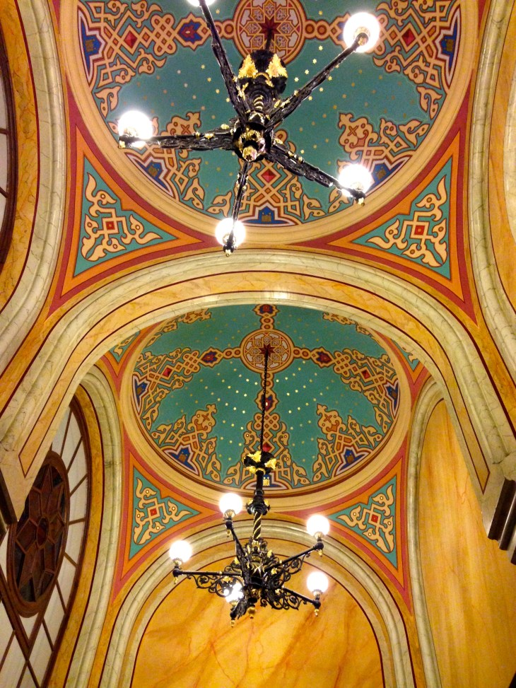 Even the ceilings are amazingly colorful.