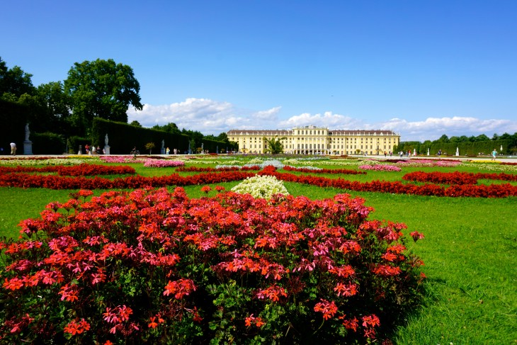 Wandering the gardens of Schönbrunn-the Habsburg Summer Palace.