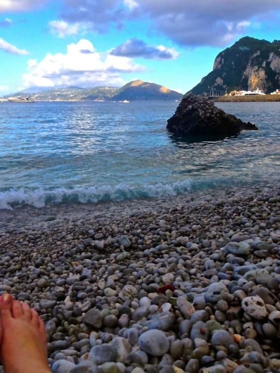 Rocky beach in Capri