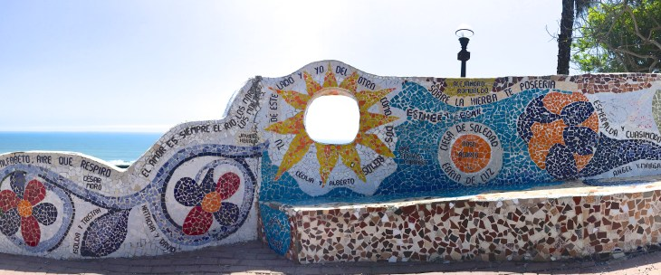 Enjoy the fresh grass, ocean view, and mosaic wall surrounding Parque del Amor | ISA Student Blog