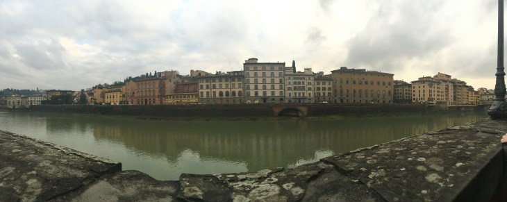 Although cloudy out, the Arno River (only a 10 minute walk from my apartment) is still beautiful.