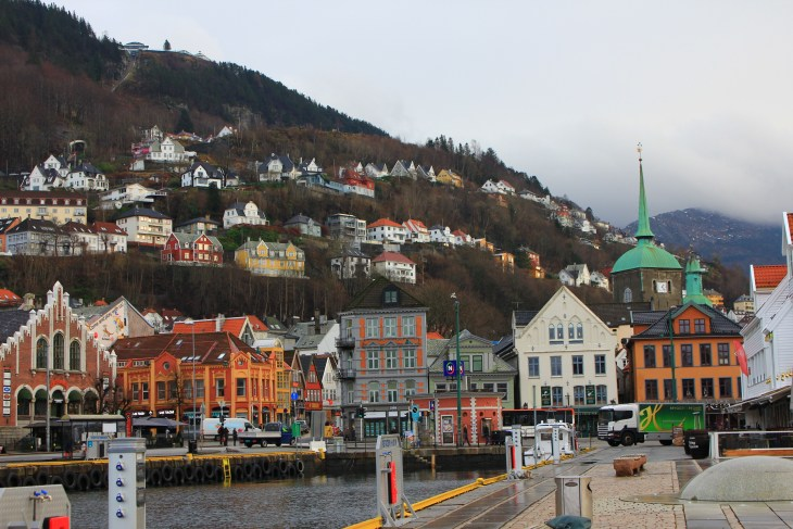 A view from downtown Bergen.