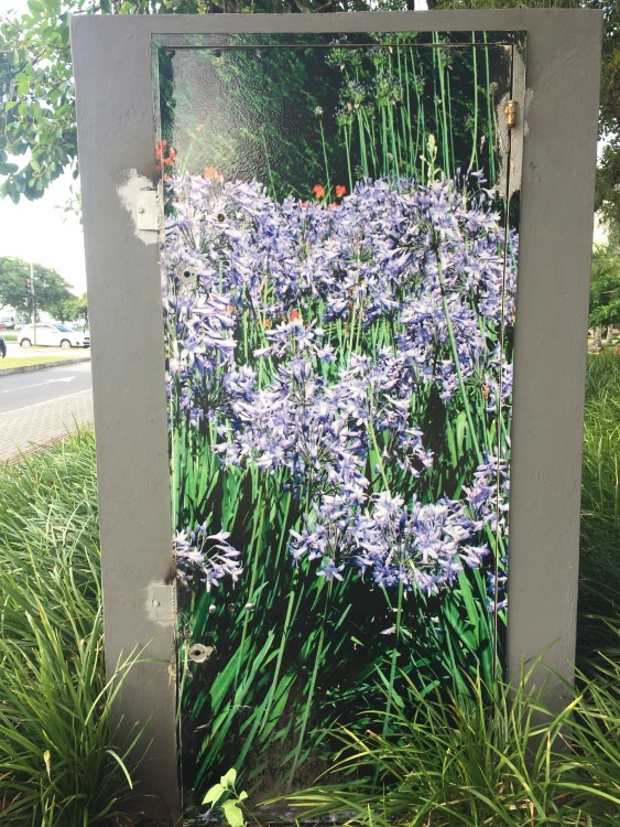 Even the electric boxes here are painted to blend in with nature.