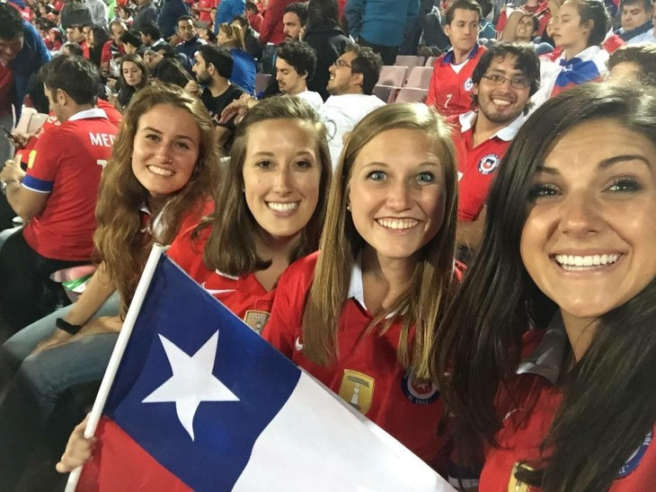 "Chile's best ""gringa"" fans!"