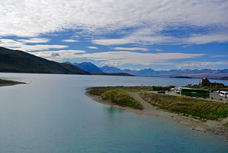I couldn't get a photo while stargazing, but here's a shot of Lake Tekapo during the daytime