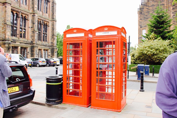 This is one of my favorite pictures of Glasgow, because it fulfills the stereotype of Great Britain that I came here thinking of- those cute and charming telephone booths.