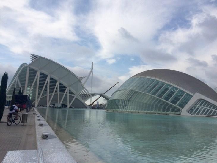 Calatrava´s Hemisféric and Museo de las Ciencias, Valencia.
