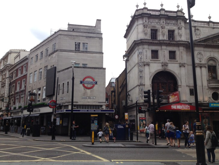 This is a street view of Charing Cross, taken near the station.