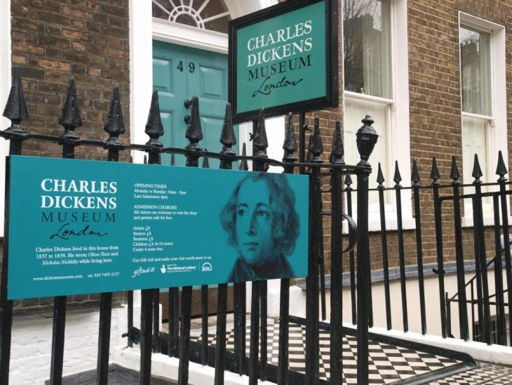 The Charles Dickens Museum in it's Victorian glory