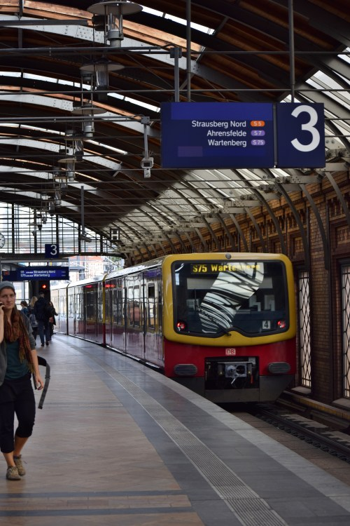 The S-Bahn runs above ground throughout Berlin. There are main routes that run in a ring around the city center, which connect to many of the U-Bahn and other S-Bahn stations. It runs almost all hours of the day and night and is very convenient.