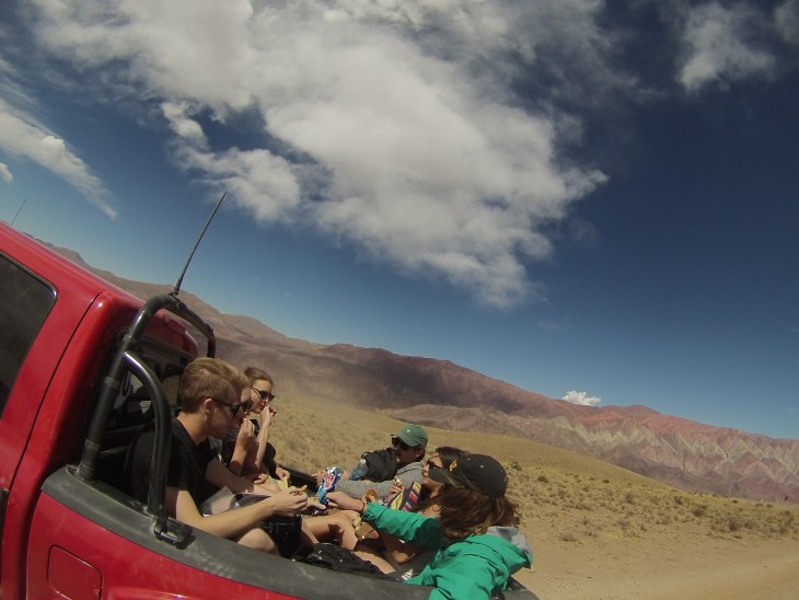 Hitchhiking to the top with new friends