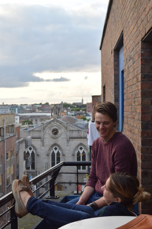 Meet two of my best pals, Hunter and Carly, ending the day on our apartment's balcony overlooking Smock Alley Theatre and everything north of the Liffey.