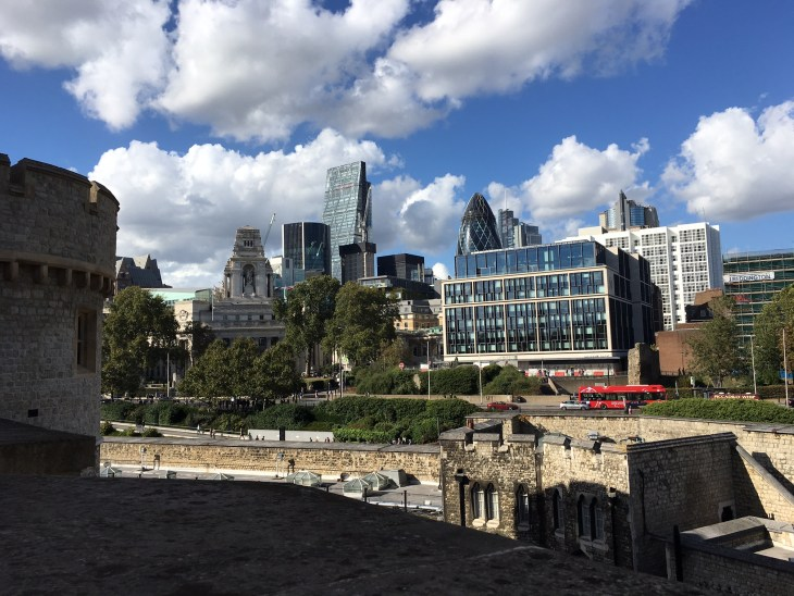 Seeing such modern buildings in contrast to the Tower of London was a great reminder that London is a blend of old and new.