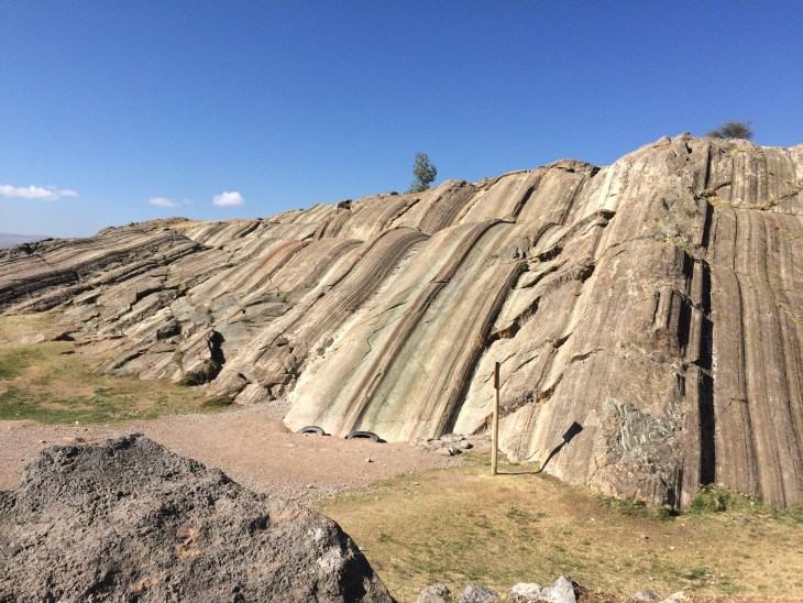 The slides at Sacsayhuamon. Yes, slides. Like little kids, playground, slides. There's no height limit. Have fun.