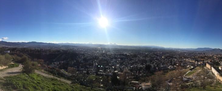 'Mirador de San Miguel' El Mirador de San Miguel that overlooks the Albaicìn, the Alhambra on the left, and the rest of Granada