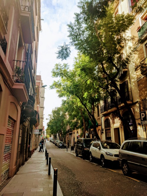 street in Gracia neighborhood barcelona
