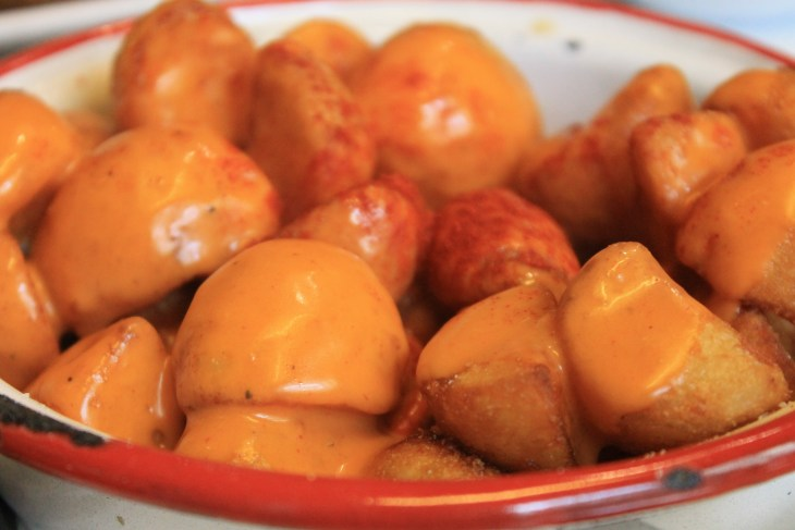 Patatas bravas from a charming cafe in Madrid