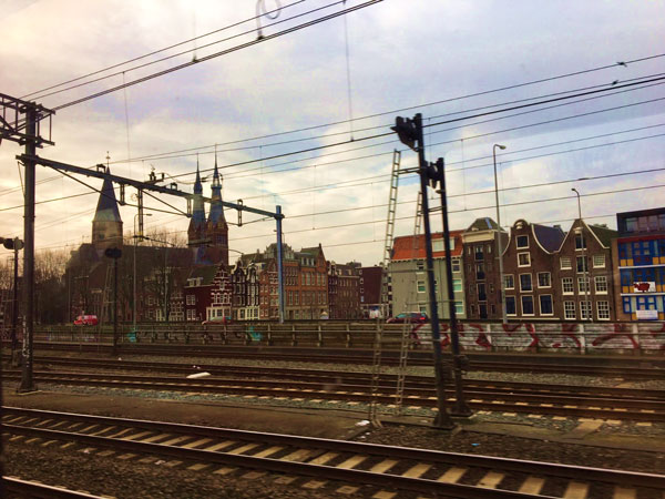 Train tracks in Amsterdam